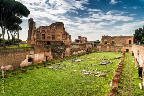 Fotografie, Obraz  Stadium of Domitian on the Palatine Hill, Rome