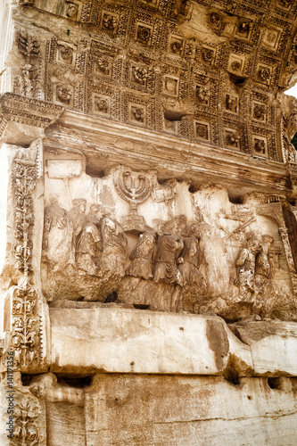 Photo Detail of Triumphal Arch of Titus, Rome