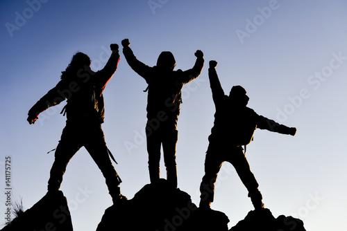Fotografering  birlikte başarmak & ekip başarısı