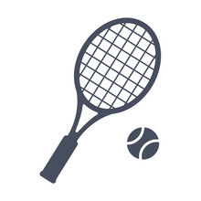 Tennis, Vector Illustration In...