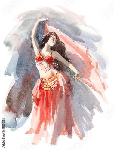 tancerka-brzucha-akwarela-sobie-czerwony-stroj-strony