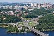 Aerial view of the city. Kiev, Ukraine. Kyiv, Ukraine