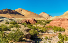 Landscape Of The High Atlas Mountains Between Ait Ben Ali And Bou Tharar, Morocco