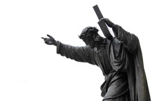 Jezus Chrystus Upada Pod Ciężarem Krzyża