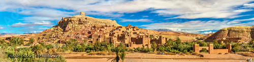 Photo sur Aluminium Maroc Panoramic view of Ait Benhaddou, a UNESCO world heritage site in Morocco