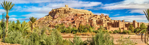 Foto op Canvas Marokko Panoramic view of Ait Benhaddou, a UNESCO world heritage site in Morocco