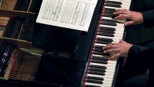 Pianist Plays Open Piano At A ...