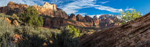 Morning Light Panorama Of Zion...