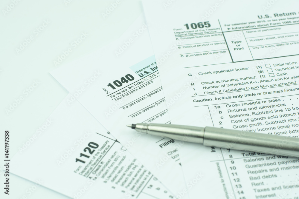 Photo & Art Print 1040,1120,1065 US tax form / taxation