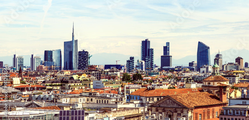 Poster Milan Milan new city view from above