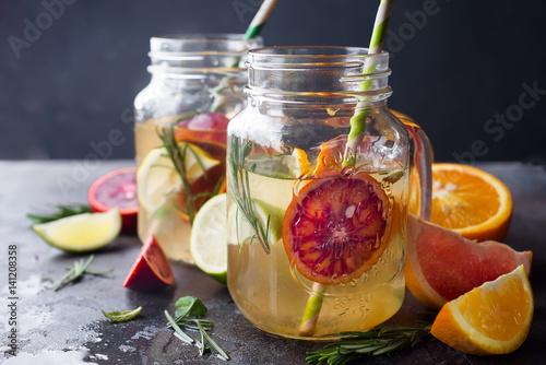 Poster Sap orange lemonade on a jar