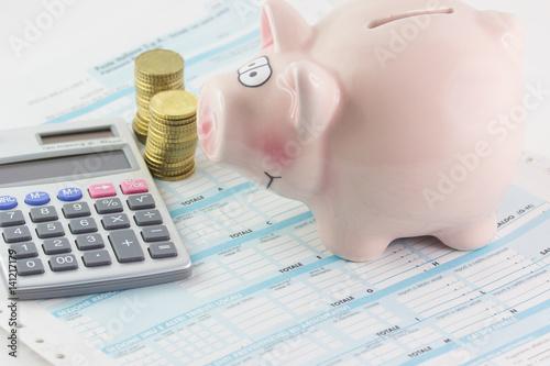 Fotografie, Obraz  Dichiarazione dei redditi