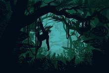 Natural Jungle Landscape Templ...