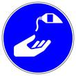 canvas print picture - shas510 SignHealthAndSafety shas - German / Gebotszeichen: Hautschutzmittel benutzen - Lotion Creme Hautschutz - Hautpflege - english / mandatory action sign: skin protection must be used - xxl g5122