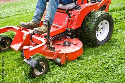 Fotografie, Obraz  Lawn Care Riding Mower