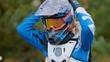 MX moto Girl in a helmet - cross racing