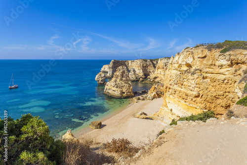 Printed kitchen splashbacks Coast Idyllic beach in Lagoa, ( Marinha beach) Algarve Portugal