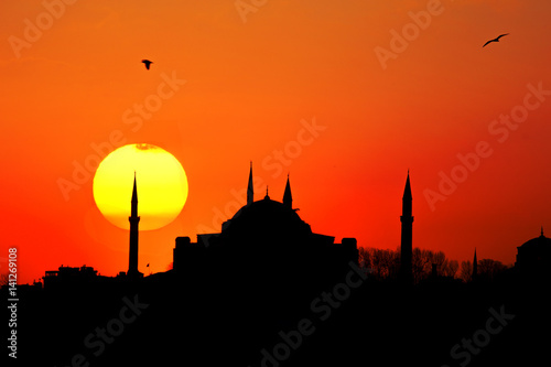 Poster  Hagia Sophia Sunset