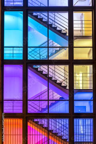 Treppenhaus im Licht Canvas Print