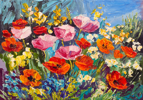 Oil Painting Of Spring Flowers On Canvas Art Work Kaufen Sie