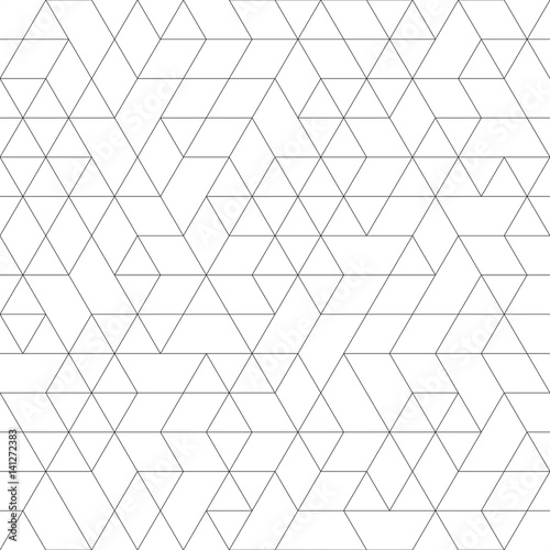 Seamless black and white background for your designs Poster Mural XXL