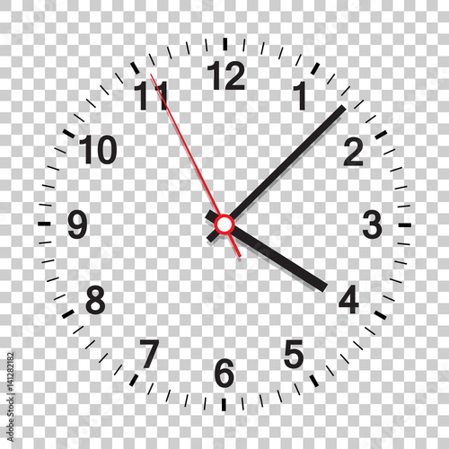 Obraz Clock icon vector illustration. Office clock on isolated background. - fototapety do salonu