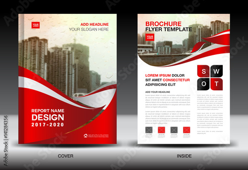 Red color scheme with city background business book cover design red color scheme with city background business book cover design template in a4 business brochure spiritdancerdesigns Image collections