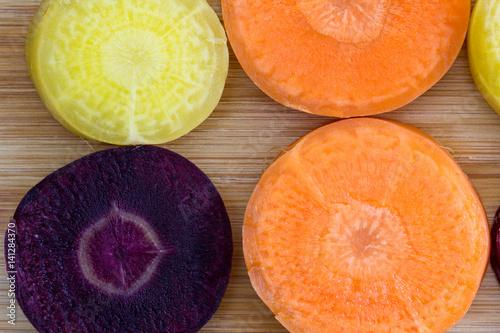 Fotobehang Groenten zanahorias de colores