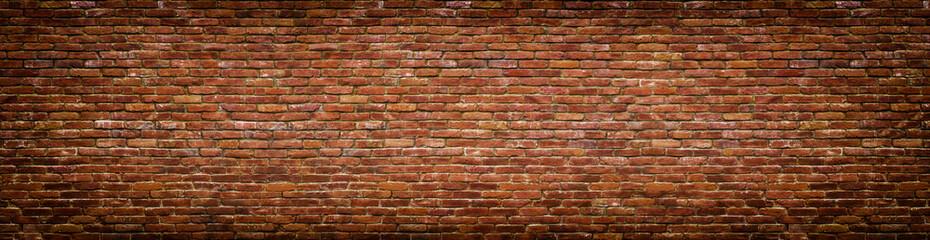 grunge ceglany mur, stary mur panoramiczny widok