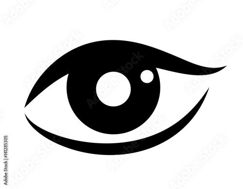 Obraz Woman eye vector icon - fototapety do salonu