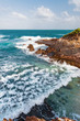 Toco Trinidad and Tobago West Indies rough sea beach cliff edge view