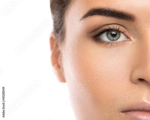 Fotografering  Half of female face