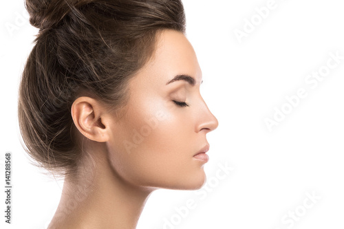 female face in profile buy this stock photo and explore similar