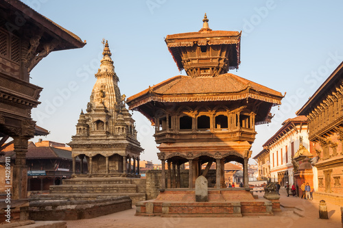 Wall Murals Nepal Bhaktapur city before earthquake, Nepal