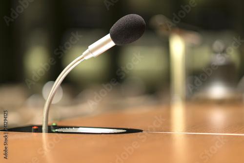 Fényképezés  Mikrofon in einem Konferenzraum