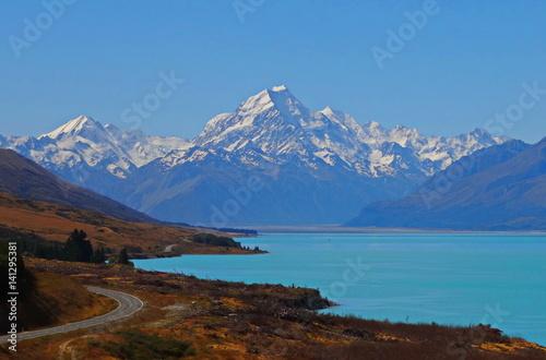 Papiers peints Nouvelle Zélande Neuseeland, Südinsel. New Zealand, Mt. Cook Region.