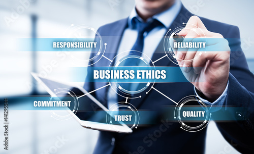 Fotografie, Obraz  Business Ethics Integrity Responsibility Corporate Strategy Concept