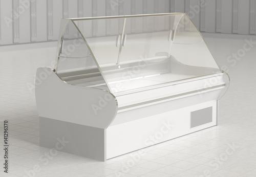 Stampa su Tela Empty refrigerator display showcase