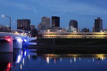 Skyline Of Dayton At Night