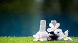 Fototapeta Bambus - Spa scrub treatment and massage, Thailand, soft and select focus