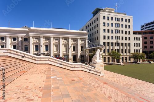 Wellington city hall building, New Zealand capital city