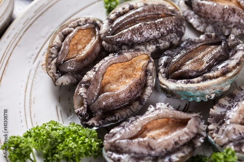 Canvas Print Grilled Abalones