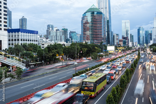 Rush hour in Jakarta, Indonesia capital city.