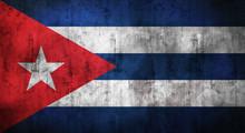 Grunge Crumpled Cuba Flag. 3d Rendering