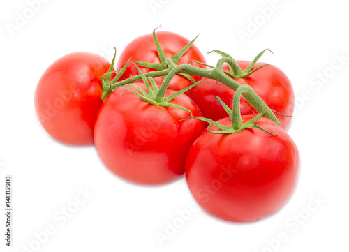 Branch of the ripe red tomatoes closeup © An-T