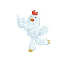White Chicken Dancing