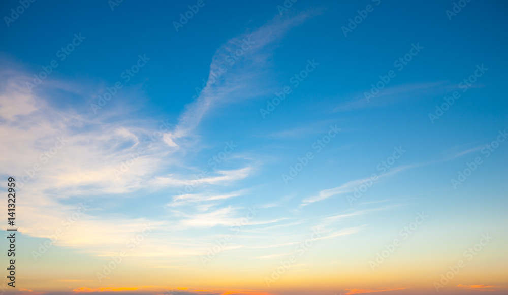 Fototapety, obrazy: Sky in the twilight episode
