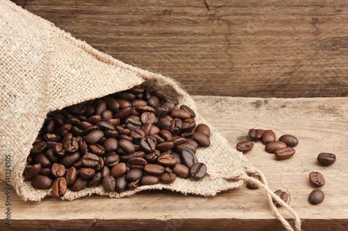 Fotografie, Obraz  coffee beans in a bag