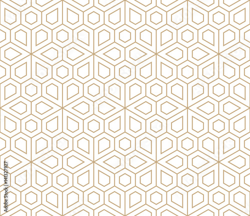 Carta da parati abstract geometric simple floral grid deco pattern
