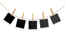 Photo Frames With Clothespins....